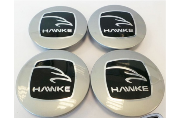 Hawke Alloy Wheel Centre Caps In Silver